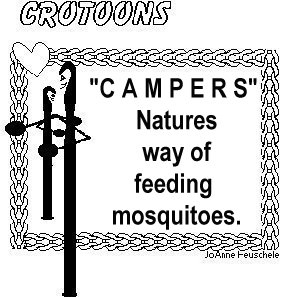 Campers... Natures way of feedign mosquitoes