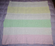 Baby's ABCs Afghan in Multiple Colors
