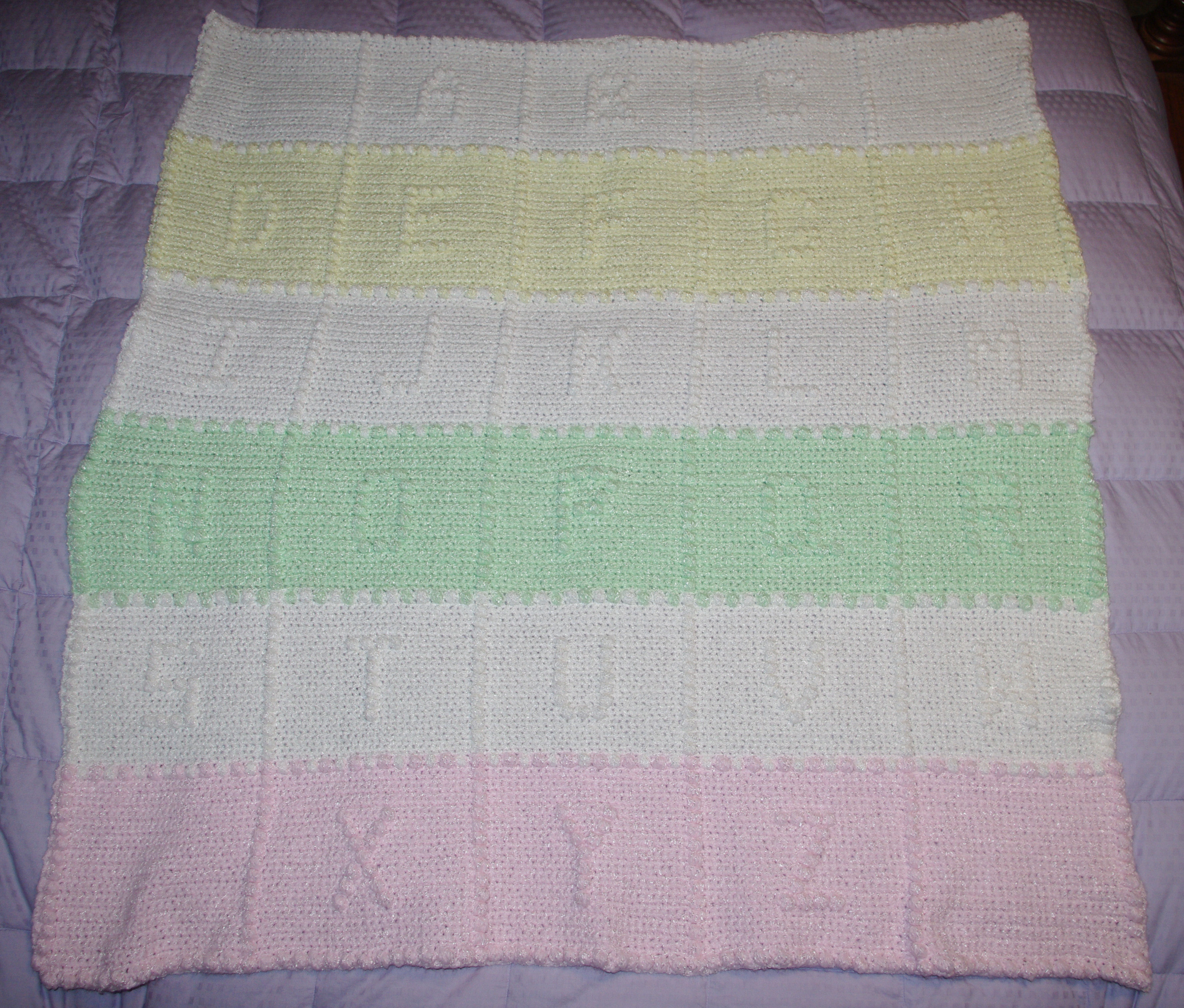 Baby's ABCs Afghan Crochet pattern