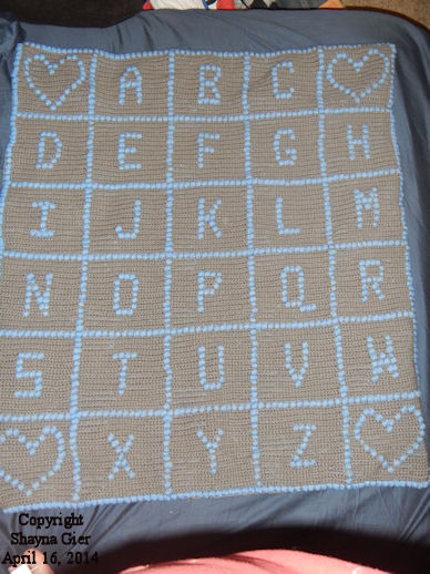 Baby's ABCs Afghan View Photo