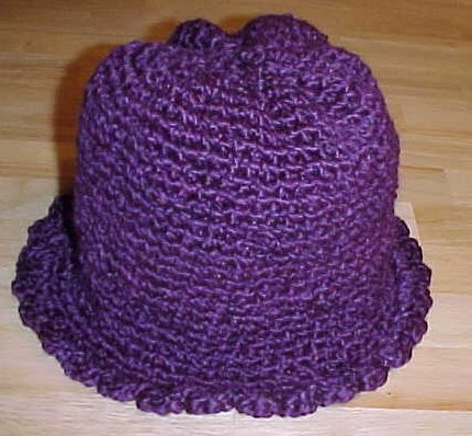 Barb's Purple Hat Crochet Pattern
