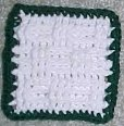 Basketweave Coaster Crochet Pattern