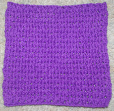 Black Currant Dishcloth Free Crochet Pattern