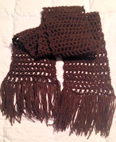Boo's Brown Scarf Free Crochet Pattern