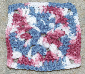 Bullions in the Middle Afghan Square Free Crochet Pattern