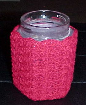 Christmas Candle Cozy Free Crochet Pattern