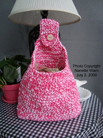 Clothespin Bag Free Crochet Pattern