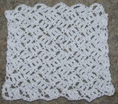 Crosshatch Dishcloth Crochet Pattern
