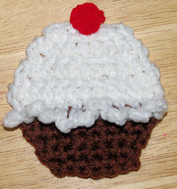 Cupcake Applique Free Crochet Pattern