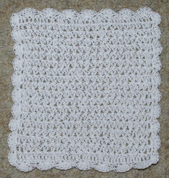 Delicate Facecloth Free Crochet Pattern