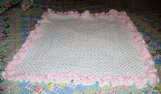 Double Ruffle Granny Baby Afghan Crochet Pattern