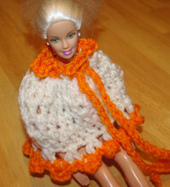 Fashion Doll Poncho Free Crochet Pattern Courtesy of Crochet N More