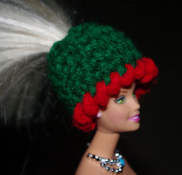 Fashion Doll Ponytail Hat Free Crochet Pattern