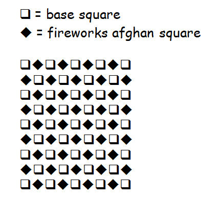 Fireworks Afghan Square Layout