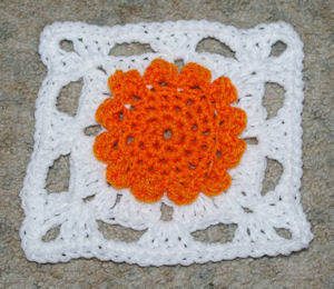 Flower Afghan Square Free Crochet Pattern