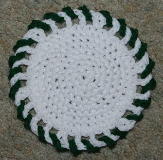 Giant Candy Coaster Free Crochet Pattern Courtesy of Crochet N More