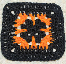 Halloween Afghan Square Free Crochet Pattern