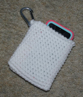 Hanging Cell Phone Pocket Free Crochet Pattern