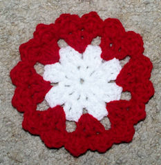 Hearts Around Coaster Free Crochet Pattern