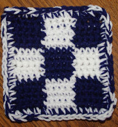 Nine Patch Coaster Free Crochet Pattern Courtesy of Crochet N More