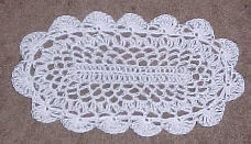 OVAL PLACEMAT DOILY CROCHET PATTERNS | eBay