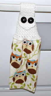 Owl Towel Topper Free Crochet Pattern