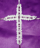 Picot Cross Bookmark Crochet Pattern