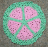 Pink Wedges Doily Crochet Pattern