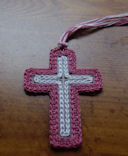 Plastic Canvas Cross Bookmark Crochet Pattern