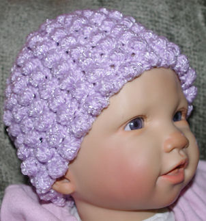 Puffs All Over Baby Hat Crochet Pattern