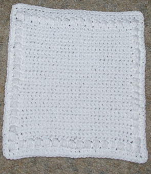 Puffs Around Dishcloth Crochet Pattern