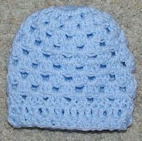 Ribbed Edge Granny Baby Hat Free Crochet Pattern