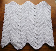 Ripple Dishcloth Crochet Pattern
