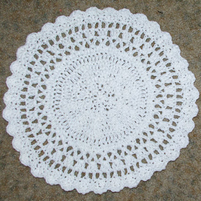 Round Placemat Crochet Pattern