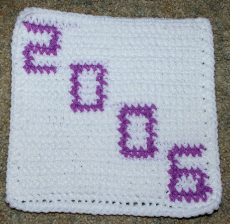 Row Count 2006 Afghan Square Free Crochet Pattern