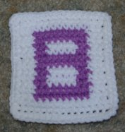 Row Count 8 Coaster Crochet Pattern