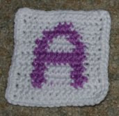 "Row Count ""A"" Coaster Crochet Pattern"