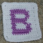 Row Count B Coaster Crochet Pattern