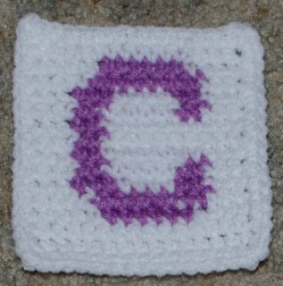 Row Count C Coaster Free Crochet Pattern