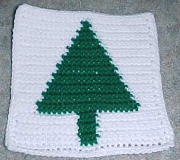 Row Count Christmas Tree Afghan Square Crochet Pattern