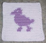 Row Count Duck Afghan Square Crochet Pattern