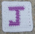 Row Count J Coaster Crochet Pattern