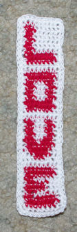 Row Count Love Bookmark Free Crochet Pattern Courtesy of Crochet N More
