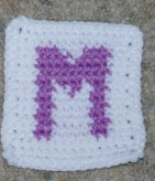 Row Count M Coaster Crochet Pattern