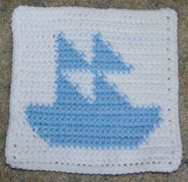 Row Count Sailboat Free Crochet Pattern