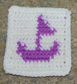 Row Count Sailboat Coaster Free Crochet Pattern
