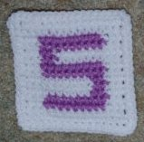 Row Count S Coaster Crochet Pattern