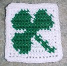 Row Count Shamrock Coaster Free Crochet Pattern