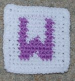 Row Count W Coaster Crochet Pattern