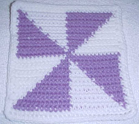 Row Count Windmill Afghan Square